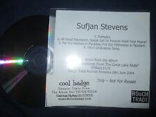 Sufjan Stevens Romulus 4 tracks Rough Trade UK  Promo CD Sampler