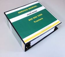 JOHN DEERE 850 950 1050 TRACTOR TECHNICAL SERVICE REPAIR MANUAL SHOP BOOK