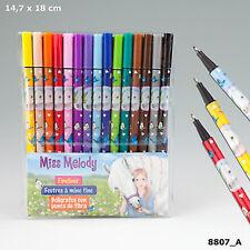 Depesche 8807 Miss Melody Fineliner-set 15 Farben