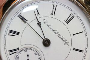 antique 1887 Columbus 18 size Pocket Watch - Excellent & Working Fine