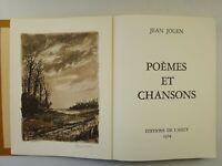 JOUEN (Jean). Poèmes et chansons. 1974 - Edition originale-Numéroté-signé auteur