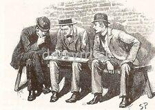 Sherlock HOLMES avventura della scatola di cartone 1893, stampa 7x5 cm RISTAMPA