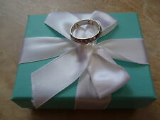 Tiffany & Co. StreamAmerica 18k 750 White Gold Diamond 5mm Band Ring.  Size 10