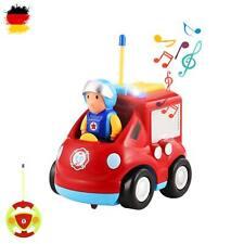RC ferngesteuertes Mini Feuerwehr-Auto,Fahrzeug m. Fernsteuerung f. Kinder,Sound