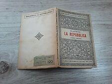 PLATONE - LA REPUBBLICA - LIBRO PRIMO 1948 EMANUELE TURCHI. EDIZ. SIGNORELLI