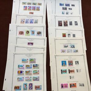 JERSEY 1969-81 CV $110 on SCOTT SPECIALTY Album Pages UK Stamp Collection