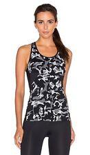 NWT $135 Sz. S KORAL Activewear Triad Sports Bra Tank Top Black Camouflage Mesh