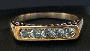 VERY BEAUTIFUL UNUSUAL VINTAGE 9ct GOLD GREEN AMETHYST RING