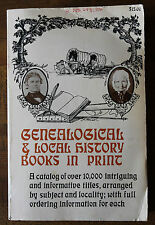 Genealogical and Local History Books in Print 1981 Paperback catalog of books