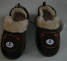"NWT Toddler Boys ""Bear"" Slippers Size Large 9-10"