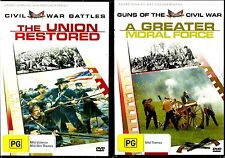 Civil War Doco Bundle - A Greater Moral Force/The Union Restored. In Shrink. R4!