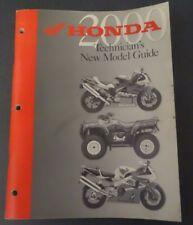 2000 Honda Technician's New Model Guide Book Motorcycle & ATVs