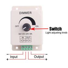 DC 12-24V 8A LED String Light Dimmer Adjustable Bright Brightness Controller 96W