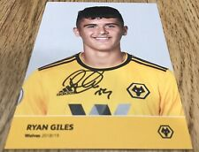 Wolves FC HAND SIGNED Ryan Giles Official Player Cards Wolverhampton Wanderers