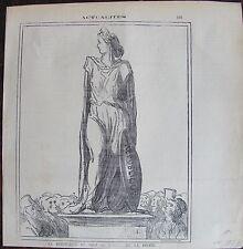DAUMIER LITHOGRAPHIE ORIGINALE DU CHARIVARI, ACTUALITÉS N°595 ;