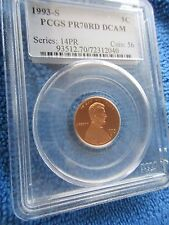 Lincoln Cent 1993-S PCGS Proof 70 Red Deep Cameo