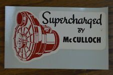 ORIGINAL VINTAGE DECAL MC CULLOCH SUPERCHARGER HOT ROD DRAG RACING FLATHEAD SCTA