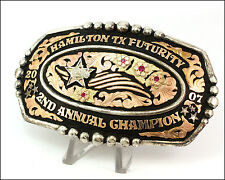 2007 Hamilton TX, Futurity 2nd Annual Champion Sterling Silver Trophy Buckle