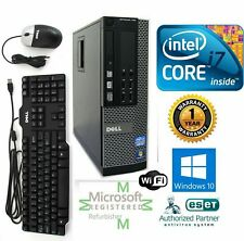 Dell PC DESKTOP Intel i7 4770 3.40g 16GB  NEW 1TB SSD Windows 10 Pro DVI Wifi