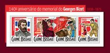 Georges Bizet Opera Carmen Classic Music Composers Guinea-Bissau MNH stamp sheet