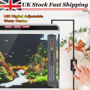 200/300/500W LED Digital Heater Aquarium Thermostat Tropical Marine Fish Tank UK