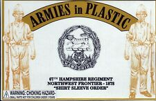 Armies in Plastic Northwest Frontier 67th Hampshire Shirt Sleeve 1/32 Scale 54mm