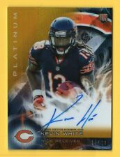 2015 Topps Platinum Autographs Gold Refractors #ARKW Kevin White RC Auto /99