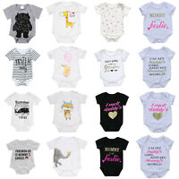 Newborn Infant Kids Baby Boy Girl Cotton Romper Bodysuit Jumpsuit Clothes Outfit