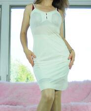 VTG Carol Brent Ivory Nylon Shadow Panel Simple Classic Full Slip Dress sz 34