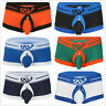 Men Sexy Open Front Thong Trunks Boxer Brief Panties Underwear Underpants Shorts