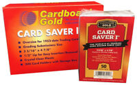 CBG 2000 ct CASE Card Saver I 1 Semi Rigid Sports Card Holder Cardboard Gold