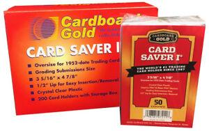 CBG 2000 ct CASE Card Saver I 1 Semi Rigid Sports Card Holder Cardboard Gold