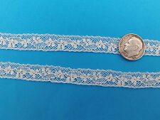 "French Heirloom Cotton Lace Insertion 1/2"" Ivory Fashion/Craft/Doll Lace 897I"