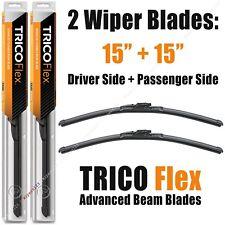 "Driver+Passenger 2-Wiper Set: Trico Flex 15""+15"" Beam Blades 1973-2018 18-150 x2"