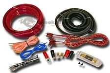 0 GAUGE AMPLFIER POWER KIT AMP INSTALL WIRING COMPLETE 1/0 GA CABLES 6500W RED