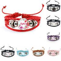 New Fashion Free Beads Sister Jewelry Wholesale PU Leather Party Bracelet Bangle