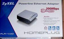 ZyXEL PLA-400 HomePlug AV Powerline Ethernet Adapter & NBG-3185 Wireless Router