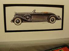 1935 Lincoln Lebaron   Artist Auto Museum Full color artist Illustrated