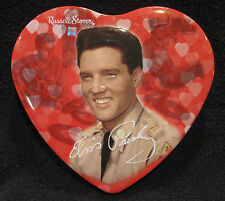 Elvis Presley Collectible / 2002 Russell Stover Heart-Shaped Tin