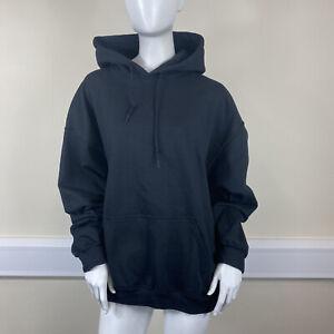 Pretty Little Thing Ladies Black Ultimate Oversized Sweatshirt Hoodie UK Large