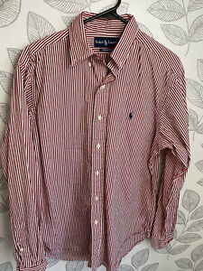 Polo Ralph Lauren Red Striped Button Up Size M