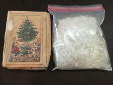 Antique Artificial Santa Claus snow flakes for trains villages nativity scenes