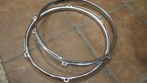 Set of Pearl 12'' 6-Lug Drum Hoops