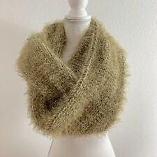 Deena & Ozzy Urban Outfitters Scarf Infinity Fuzzy Chunky Knit Green Cozy