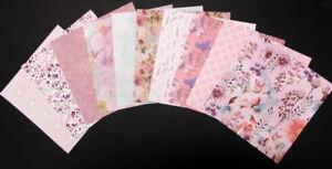"SPRINGTIME FLORAL ~ Scrapbooking/Cardmaking Papers x 10 - 15cm x 15cm - (6""x 6"")"