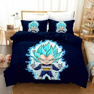 Mini Vegeta 3PCS Bedding Set Duvet Cover Pillowcases Comforter Cover