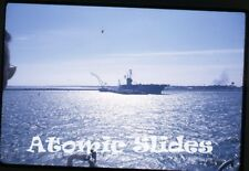 1963 kodachrome Photo slide ship Navy aircraft carrier