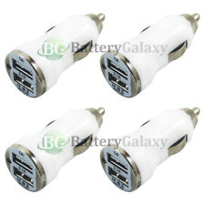 4X Universal Dual 2 Port Car Charger 2.1 Amp for Apple iPhone/Android Cell Phone