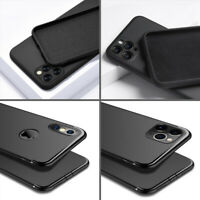 Black Case For iPhone 11 Pro Max SE 5 6 7 8 Soft Silicone Shockproof Slim Cover