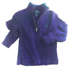 Ralph Lauren Polo Baby Boys Cotton Half-Zip Pullover Sweater, Purple, 2T - EUC!